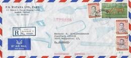 Thailand 1981 Bangkok Hog Deer King Bhumibol Registered Express Cover - Thailand