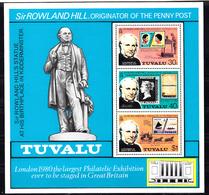 Tuvalu 1979 Mi Nr Blok 3, Sir Rowland Hill - Tuvalu