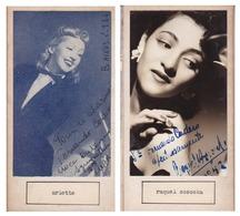 ARLETTE; RAQUEL SOSOSKA. AUTOGRAPHE AUTOGRAFO SIGNEE SIGNATURE AUTHENTIQUE ORIGINAL.-BLEUP - Autographs
