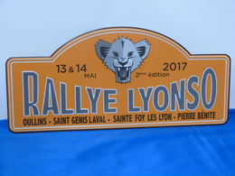 """Plaque Rallye """"RALLYE LYONSO 2017"""" Rally Plate - Rallye (Rally) Plates"""
