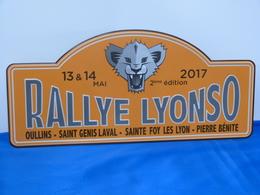 "Plaque Rallye ""RALLYE LYONSO 2017"" Rally Plate - Plaques De Rallye"