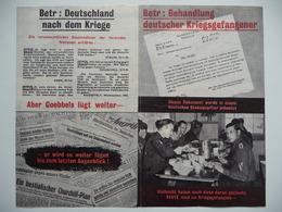 WWII WW2 Tract Flugblatt Propaganda Leaflet In German, PWE G Series/1944, G.4b, Betr: Behandlung Deutscher Kriegsgefange - Vieux Papiers
