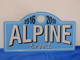 "Plaque De Rallye ""ALPINE"" 2016. Trial - Rallye (Rally) Plates"