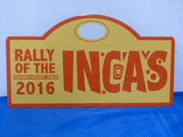 """Plaque De Rallye """"INCAS 2016"""" - Rallye (Rally) Plates"""