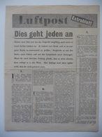 WWII WW2 Tract Flugblatt Propaganda Leaflet In German, PWE G Series/1944, G.9, Luftpost - Extrablatt (Luftpost - Extra) - Non Classés