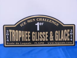 "Plaque De Rallye ""TROPHEE GLISSE § GLACE"" 2012. - Plaques De Rallye"