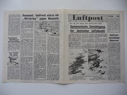 WWII WW2 Tract Flugblatt Propaganda Leaflet In German, PWE G Series/1944, G.12a, Luftpost, 21. März 1944 - Non Classificati