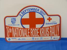 "Plaque Rallye 18ème ""NATIONALE RODE KRUIS"" 2017. - Plaques De Rallye"