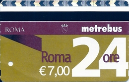 BIGLIETTO   ROMA 24 H  Metrebus   -    Anno 2018. - Bus