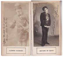 ALFREDO CHIMENTI; GUSTAVO DE MARCO. AUTOGRAPHE AUTOGRAFO SIGNEE SIGNATURE AUTHENTIQUE ORIGINAL.-BLEUP - Autographes