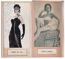 AMBAR LA FOX; LYDIA SCOTTY. AUTOGRAPHE AUTOGRAFO SIGNEE SIGNATURE AUTHENTIQUE ORIGINAL.-BLEUP - Autogramme & Autographen