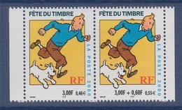 = Fête Du Timbre 2000 Tintin Et Milou D'après L'oeuvre De Hergé, Paire De Carnet N°P3304A (3304 Et 3303a) Neuf - France