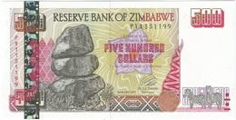 Zimbabwe 500 Dollars 2001 Pick 10 UNC - Zimbabwe