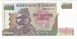 Zimbabwe 500 Dollars 2001 Pick 11.a UNC - Zimbabwe
