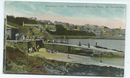 Guernsey Postcard Gentlemen's Bathing Pool St. Peter's Port Unused - Guernsey