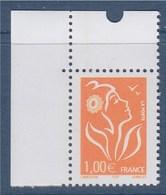 Marianne De Lamouche ITVF 1.00€ Orange N° 3739a Neuf Gommé, En Coin De Feuille - 2004-08 Marianne Of Lamouche