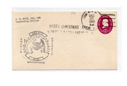MK546 - STATI UNITI USS ATKA, Merry Christmas From Antarctica Deep Freeze 25/12/1960 - Filatelia Polare