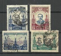 LITAUEN Lithuania 1930 Michel 308 - 309 & 311 - 312 O - Lithuania