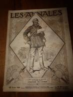 LES ANNALES 21 Juil 1918-->Nos Enfants-soldats à Barcelone;La Mère Manac'h De Fouesnant;Poste-Ballon;Longfellow Poète US - Newspapers