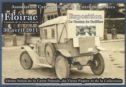 = 24ème Salon De La Carte Postale, Floirac 30 Avril 2011, Association Cartophilique De L'Entre Deux Mers - Sammlerbörsen & Sammlerausstellungen