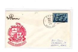 MK550 - STATI UNITI , Uss Staten Island Deep Freeze 23/2/1961 - Filatelia Polare