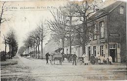 -BOUWEL-Café De Lndekens,arrêt Du Tram- Carrioles ,chevaux Au Repos,table Devant L'entrée ,avec Nombreuses Perso - België