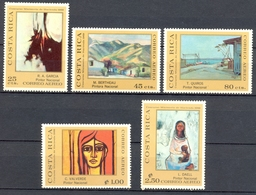 Costa Rica - 1970 - Yt PA 503/507 - Peintures D'Artistes Costaricains - * Charnière - Costa Rica