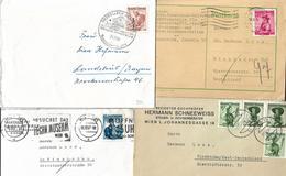 5001i: Österreich Trachten 4 Bedarfspostbelege - 1945-.... 2. Republik