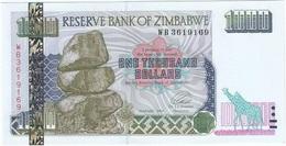 Zimbabue - Zimbabwe 1.000 Dollars 2003 Pick 12.a UNC - Zimbabwe