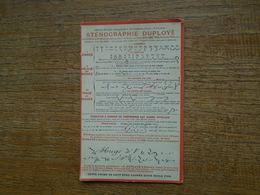 Carte , Sténographie Duployé - Postcards