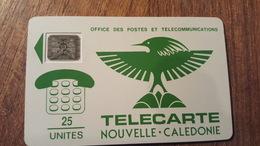 Télécarte NOUVELLE CALÉDONIE  NC1a  CAGOU VERT SC4 O7 N° 17962  25UT - New Caledonia