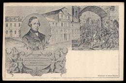 HOMENAGEM A GARRETT Com Imagem De Sua Casa No PORTO. Postal Ilustrado C/SELO E CARIMBO DE FAVOR 1902 PORTUGAL - Portugal