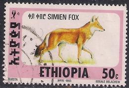 Ethiopia 1993 50c Fox Animals Used Stamp ( E1177 ) - Ethiopia