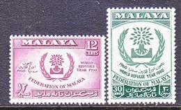FEDERATION  OF  MALAYA  94-5   **  WRY  REFUGEE  YEAR - Federation Of Malaya