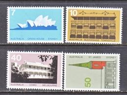 AUSTRALIA  584-7   **  ARCHITECTURE - 1966-79 Elizabeth II