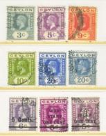 CEYLON  228 +  / WAR  TAX  PERFIN   (o)    Wmk. 4  1921-33  Issue - Ceylon (...-1947)