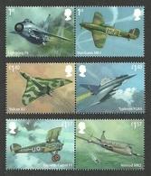 GB 2018 RAF CENTENARY AIRCRAFT MILITARY HURRICANE NIMROD VULCAN SET MNH - 1952-.... (Elisabeth II.)