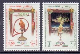2000 QATAR Cup Tennis Matches Complete Sets 2 Values MNH - Qatar
