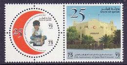 2003 QATAR 25th Anniversary Of Qatar Red Crescent  Complete Sets 2 Values MNH - Qatar