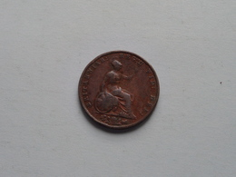 1855 - 1/2 Penny / KM 726 ( For Grade, Please See Photo ) ! - 1816-1901 : Frappes XIX° S.
