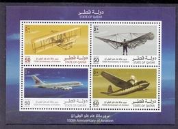 2003 QATAR 100th Anniversary Of Aviation   Souvenir Sheet MNH - Qatar