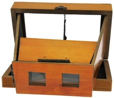 VISIONNEUSE Stéréo 8X17 Pliante En Bois Très Ancienne Très Rare - Supplies And Equipment