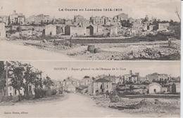 MILITARIA - La Guerre En Lorraine 1914 - 1918 - NOMENY - Aspect Général Vu De L'Avenue De La Gare - War 1914-18