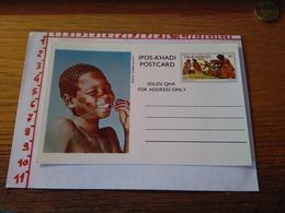 144279 CARTOLINA POSTALE  TRANSKEI IPOS KHADI POSTCARD IDILESI QHA  FOR ADDRESS ONLY - Sud Africa