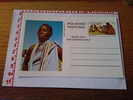144280 CARTOLINA POSTALE  TRANSKEI IPOS KHADI POSTCARD IDILESI QHA  FOR ADDRESS ONLY - Sud Africa