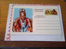 144281 CARTOLINA POSTALE  TRANSKEI IPOS KHADI POSTCARD IDILESI QHA  FOR ADDRESS ONLY - Sud Africa