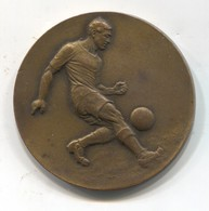 FOOTBALL /  FUTBOL / CALCIO - Medal Plaque, Bronze, By Huguenin, 1930s - Football