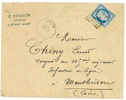 MEUSE ENV 1875 CONVOYEUR STATION ETAIN / CONFI-CI - Postmark Collection (Covers)