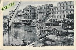 Lazio-roma-anzio Il Porto Bella Particolare Animatissima Veduta Anni 20/30 - Italia