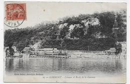 LORMONT EN 1914 - N° 25 - COTEAUX ET BORDS DE LA GARONNE - BEAU CACHET - CPA VOYAGEE - Autres Communes